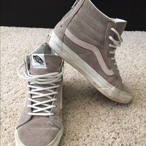 Vans Sk8 Hi Slim Zip Leather shoes